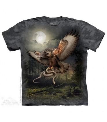 T-shirt Loup-Faucon à 2 Têtes The Mountain