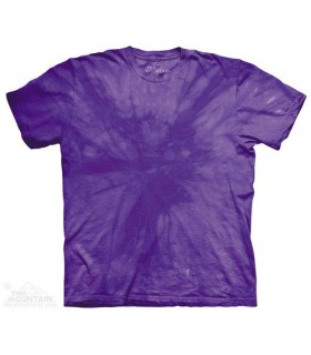 Spiral Purple - Mottled Dye T Shirt The Mountain