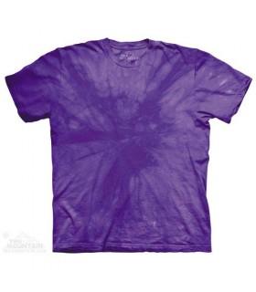 Spiral Purple - Mottled Dye T Shirt The Mountain