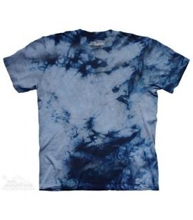 Grey Blue Double - Bi Dye T Shirt The Mountain