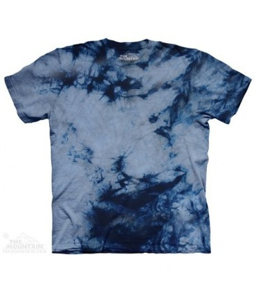 Grey Blue Double - Bi Dye T Shirt The Mountain