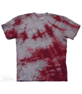 Grey Crimson Double - Bi Dye T Shirt The Mountain