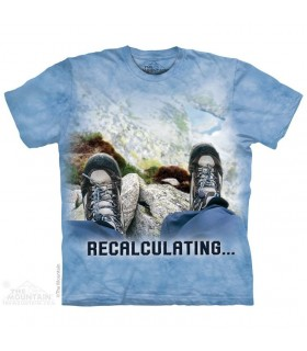Recalculating - Adventure T Shirt The Mountain