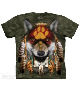 Native Wolf Spirit - Animal T Shirt The Mountain
