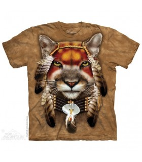 Mountain Lion Warrior - Big Cat T Shirt The Mountain