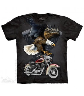 T-shirt Aigle et Moto The Mountain