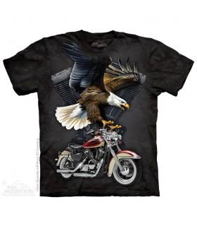 T-shirt Aigle et Moto The Mountain