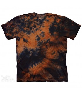 T-shirt Orange Bleu Dye The Mountain