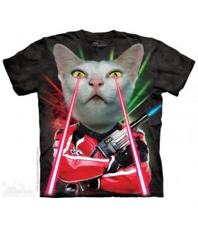 Lazer Cat - Sci-Fi T Shirt The Mountain