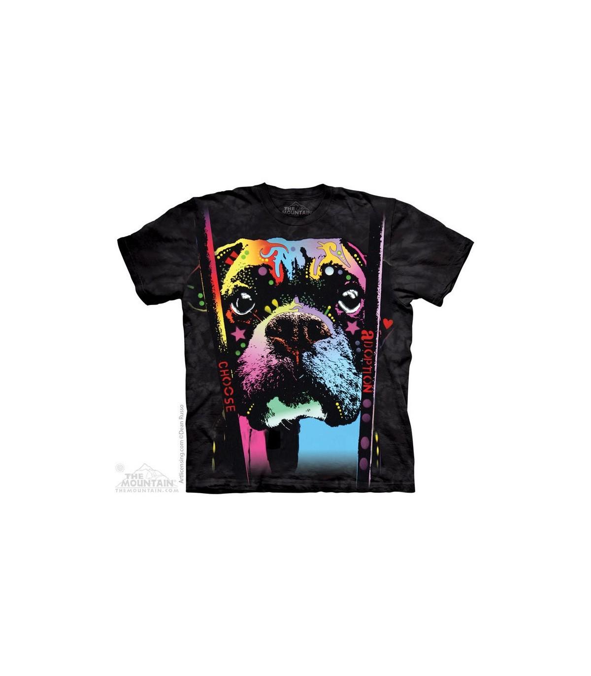 Boxer Choose Adoption Dog T Shirt The Mountain