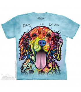Dog is Love - Pet T Shirt The Mountain