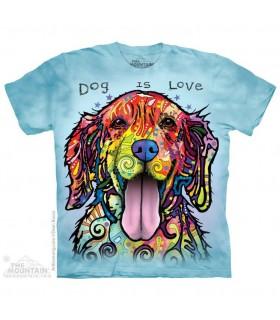 Le Chien est Amour - T-shirt Chien The Mountain
