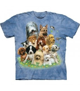 Puppies in Grass -Dogs Shirt Mountain