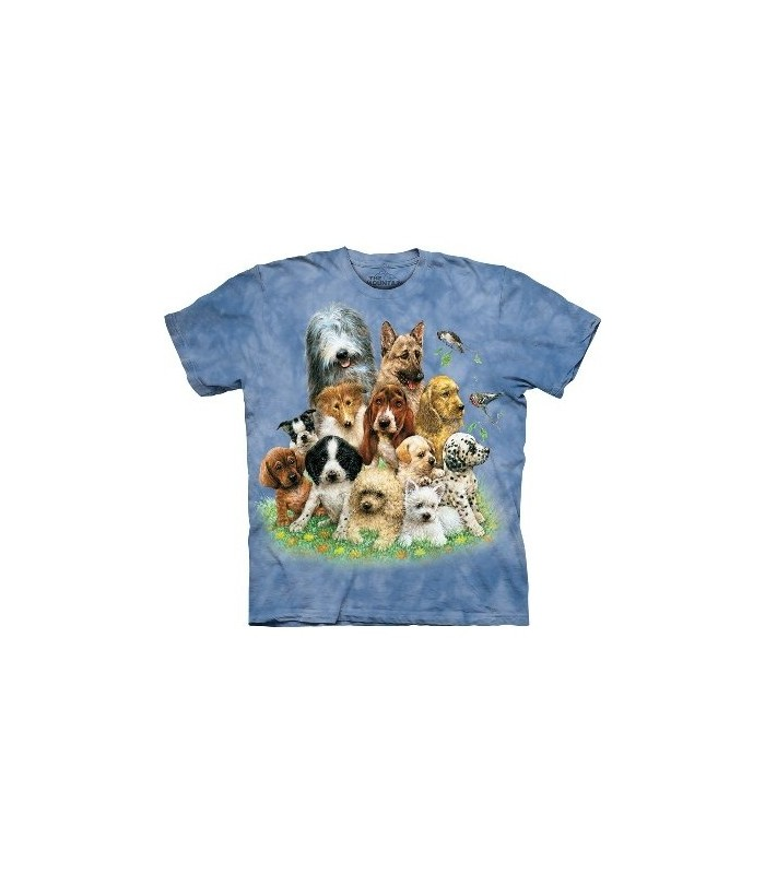 T-Shirt Chiots dans l'herbe par The Mountain