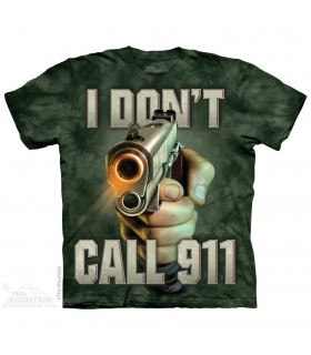 T-shirt Call 911 The Mountain