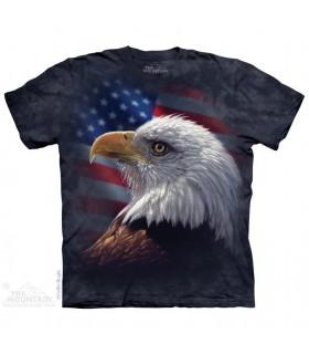 American Pride Eagle - USA T Shirt The Mountain