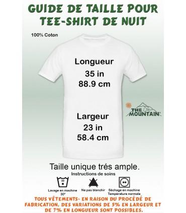 T-shirt Nuit Adulte Chaton aux Yeux Bleus The Mountain