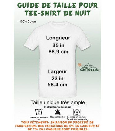 T-shirt Nuit pour Adulte Chat Abyssin The Mountain