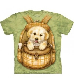 Puppy Backpack - Dogs T Shirt by the Mountain