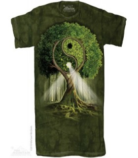 Yin Yang Tree 1Size4All Adult Nightshirt The Mountain