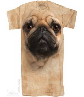 Pug Face 1Size4All Adult Nightshirt The Mountain