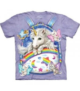 Backpack Unicorn - Fantasy T Shirt by the Mountain