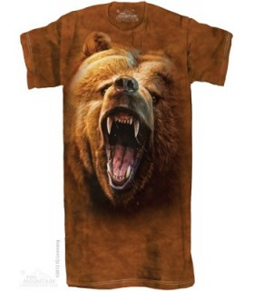 Grizzly Growl 1Size4All Adult Nightshirt The Mountain