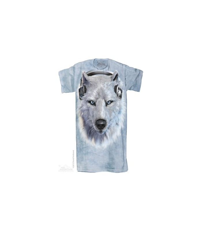 White Wolf DJ 1Size4All Adult Nightshirt The Mountain