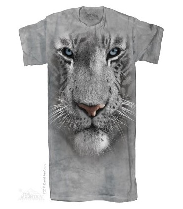 White Tiger Face 1Size4All Adult Nightshirt The Mountain
