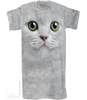 Green Eyes Face - Adult Nightshirt The Mountain