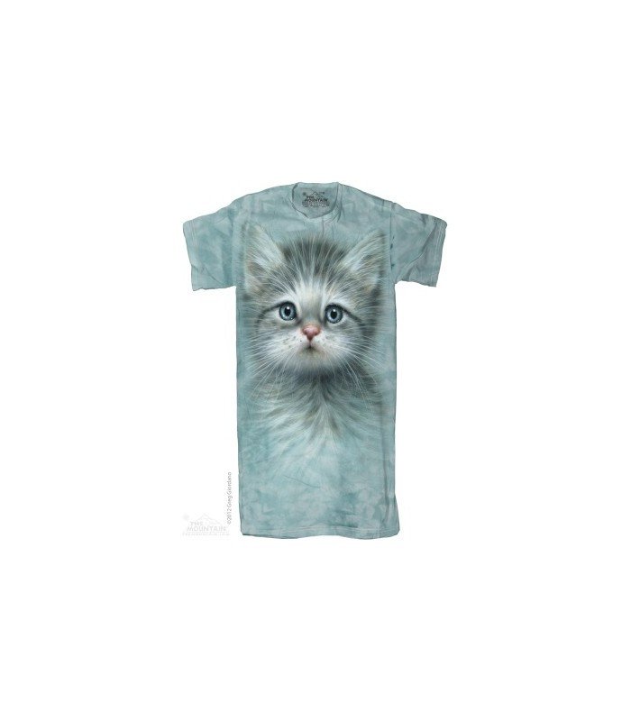 Blue Eyed Kitten 1Size4All Adult Nightshirt The Mountain