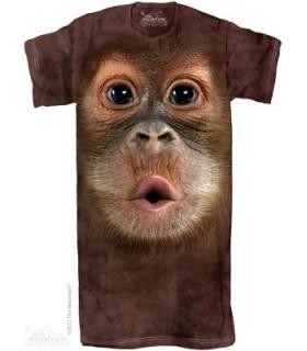 Big Face Baby Orangutan - Adult Nightshirt The Mountain