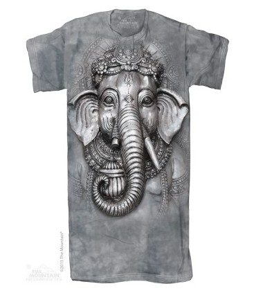 Big Face Ganesh Adult Nightshirt The Mountain