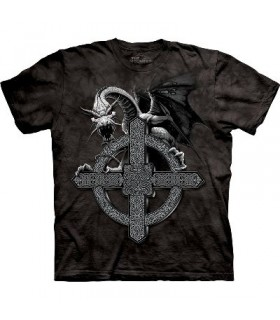 T-Shirt Croix Celtique et Dragon par The Mountain
