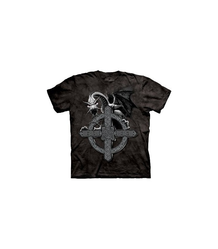 Celtic Cross Dragon - Dragons T Shirt The Mountain