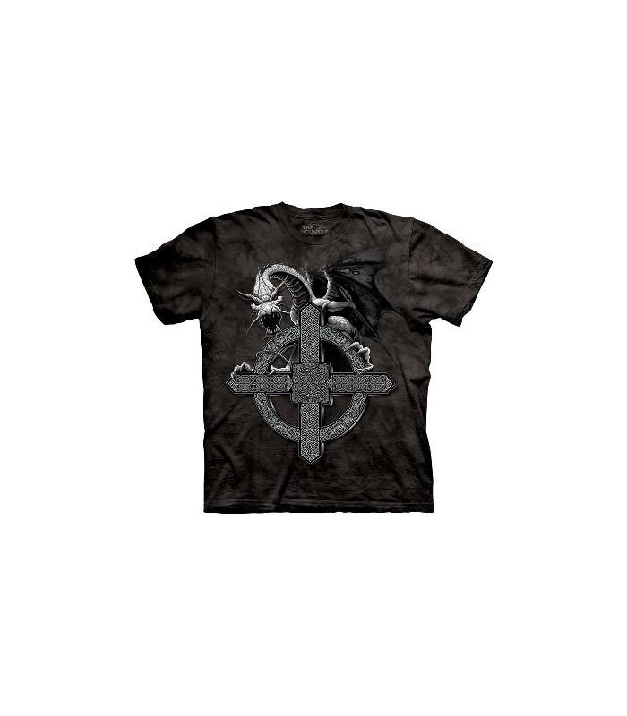 T-Shirt Croix Celtique et Dragon par The Mountain