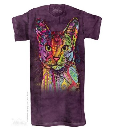 Chemise de nuit pour Adulte Chat Abyssin The Mountain
