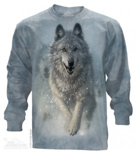 T-shirt manche longue Loup Blanc The Mountain