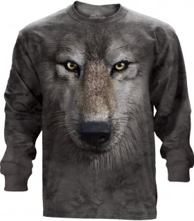 Wolf Face - Long Sleeve T Shirt The Mountain