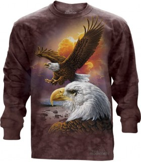Eagle And Clouds - Long Sleeve T Shirt The Mountain