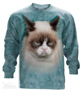 T-shirt manche longue Chat Grincheux (Grumpy Cat) The Mountain