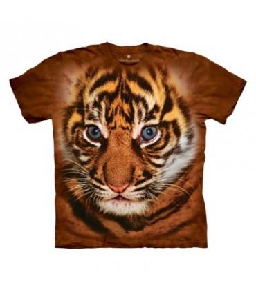Big Face Sumatran Tiger Cub - Big Cat T Shirt The Mountain