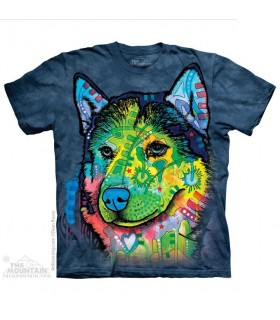 T-shirt Chien Sibérien - Dean Russo