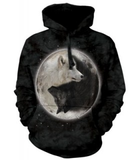 Sweat shirt à capuche Loups Yin Yang The Mountain