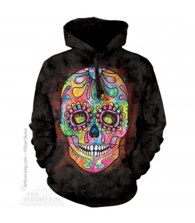 Day Of The Dead - Skull Hoodie The Mountain