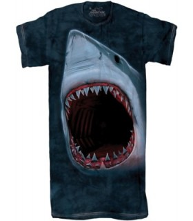 Shark Bite 1Size4All Adult Nightshirt The Mountain