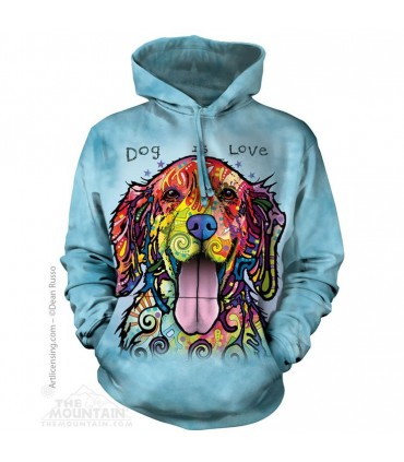 Dog Is Love - Pet Hoodie The Mountain