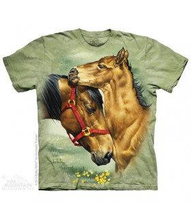 Meadow Horses - Animal T Shirt The Mountain