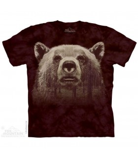 The Mountain Unisex Bear Face Forest Animal T Shirt