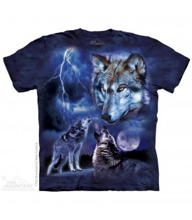 The Mountain Unisex Wolves of the Storm Animal T Shirt